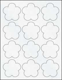 "Sheet of 2.46"" x 2.4"" Clear Matte Laser labels"