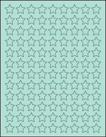 "Sheet of 0.75"" x 0.75"" Pastel Green labels"