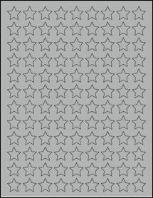 "Sheet of 0.75"" x 0.75"" True Gray labels"