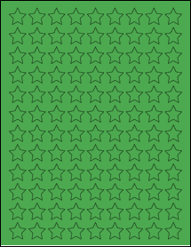 "Sheet of 0.75"" x 0.75"" True Green labels"