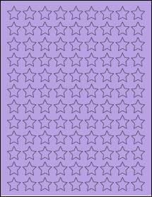 """Sheet of 0.75"""" x 0.75"""" True Purple labels"""