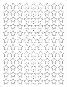 """Sheet of 0.75"""" x 0.75"""" Weatherproof Matte Inkjet labels"""
