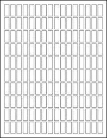 "Sheet of 0.375"" x 0.9219""  labels"
