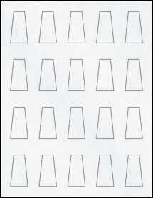 "Sheet of 0.975"" x 1.76"" Clear Matte Laser labels"