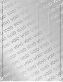 """Sheet of 1.25"""" x 9.75"""" Void Silver Polyester labels"""