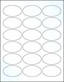 "Sheet of 2.5"" x 1.5"" Oval Clear Gloss Inkjet labels"