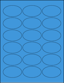 "Sheet of 2.5"" x 1.5"" Oval True Blue labels"