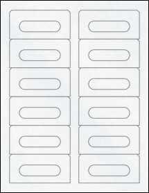 """Sheet of 3.5"""" x 1.6562"""" Clear Matte Inkjet labels"""