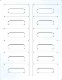"Sheet of 3.5"" x 1.6562"" Clear Gloss Inkjet labels"
