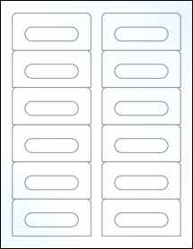 "Sheet of 3.5"" x 1.6562"" Clear Gloss Laser labels"