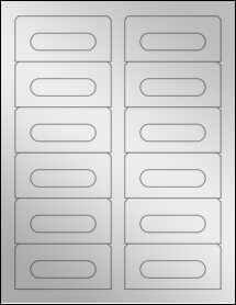 """Sheet of 3.5"""" x 1.6562"""" Silver Foil Laser labels"""
