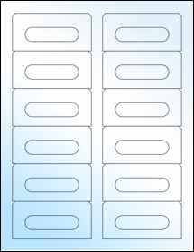 """Sheet of 3.5"""" x 1.6562"""" White Gloss Laser labels"""