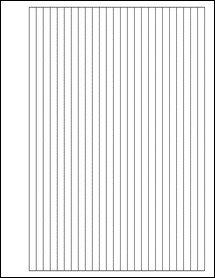 """Sheet of 0.28"""" x 10.5""""  labels"""