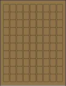 """Sheet of 0.75"""" x 1"""" Brown Kraft labels"""