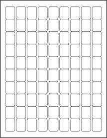 "Sheet of 0.75"" x 1"" Blockout for Laser labels"