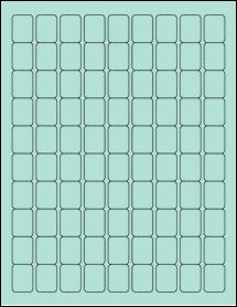 "Sheet of 0.75"" x 1"" Pastel Green labels"