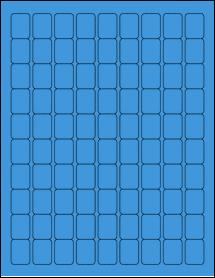 "Sheet of 0.75"" x 1"" True Blue labels"