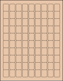"Sheet of 0.75"" x 1"" Light Tan labels"