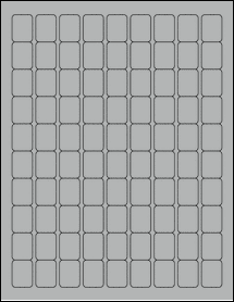 "Sheet of 0.75"" x 1"" True Gray labels"