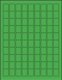 "Sheet of 0.75"" x 1"" True Green labels"