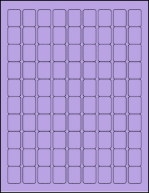 "Sheet of 0.75"" x 1"" True Purple labels"