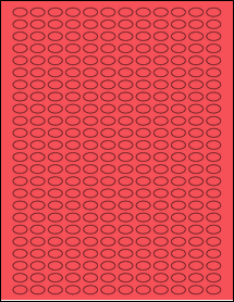 """Sheet of 0.52"""" x 0.315"""" True Red labels"""