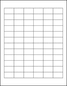 "Sheet of 1.25"" x 0.75"" Blockout for Laser labels"