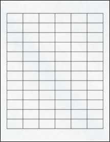 """Sheet of 1.25"""" x 0.75"""" Clear Matte Inkjet labels"""