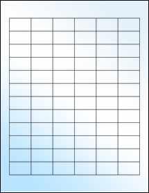 """Sheet of 1.25"""" x 0.75"""" White Gloss Inkjet labels"""
