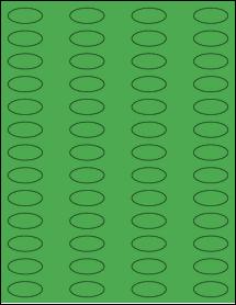 "Sheet of 1.25"" x 0.5625"" True Green labels"