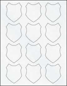 """Sheet of 2"""" x 2.5"""" Clear Matte Inkjet labels"""