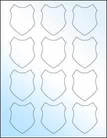"""Sheet of 2"""" x 2.5"""" White Gloss Inkjet labels"""