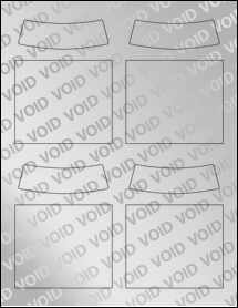 """Sheet of 3.5"""" x 2.99"""" Void Silver Polyester labels"""