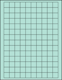 """Sheet of 0.75"""" x 0.75"""" Square Pastel Green labels"""