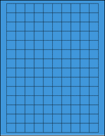 """Sheet of 0.75"""" x 0.75"""" Square True Blue labels"""