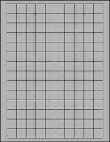 """Sheet of 0.75"""" x 0.75"""" Square True Gray labels"""