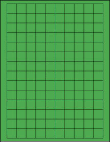"""Sheet of 0.75"""" x 0.75"""" Square True Green labels"""