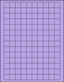 "Sheet of 0.75"" x 0.75"" Square True Purple labels"