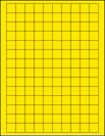 """Sheet of 0.75"""" x 0.75"""" Square True Yellow labels"""