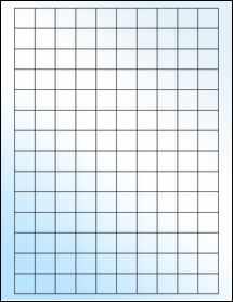 "Sheet of 0.75"" x 0.75"" Square White Gloss Inkjet labels"