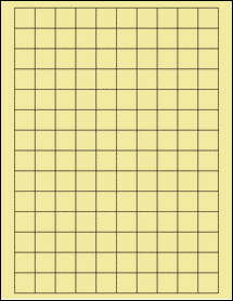 """Sheet of 0.75"""" x 0.75"""" Square Pastel Yellow labels"""