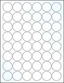 "Sheet of 1.25"" Circle Clear Gloss Inkjet labels"