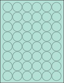 "Sheet of 1.25"" Circle Pastel Green labels"