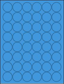 "Sheet of 1.25"" Circle True Blue labels"