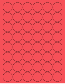 """Sheet of 1.25"""" Circle True Red labels"""