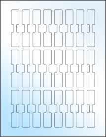 """Sheet of 0.625"""" x 3"""" White Gloss Inkjet labels"""