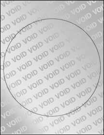 """Sheet of 8"""" Large Circle Void Silver Polyester labels"""