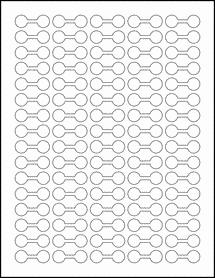 "Sheet of 1.375"" x 0.5"" Blockout for Laser labels"