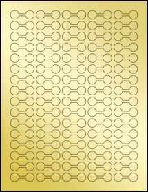 "Sheet of 1.375"" x .5"" Gold Foil Inkjet labels"