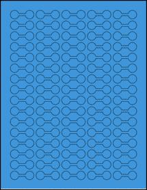 "Sheet of 1.375"" x 0.5"" True Blue labels"